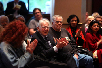 Quentin Young, Ed Sadlowski, and Alma Washington at Studs Terkel Birthday Party